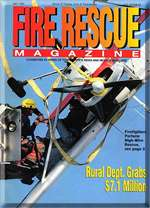 Ladder54's airplane rescue at Boeing Field on cover of Fire Rescue magazine May 1998