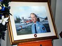 Memorial  that hangs in Station 54