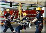 stokes rescue training Alaska Airlines Hangar